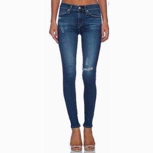 AG  High Rise Skinny Farrah skinny jeans